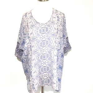 Johnny Was Willow Pattern Tunic